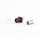 FAKRA Type D Male Connector RG58 Cable, Crimp Version