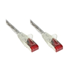 Patch Cable, Cat. 6, S/FTP, PiMF, PVC, 250 MHz, transparent, 50 m
